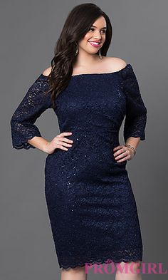 3/4 Sleeve Short Off the Shoulder Lace Dress