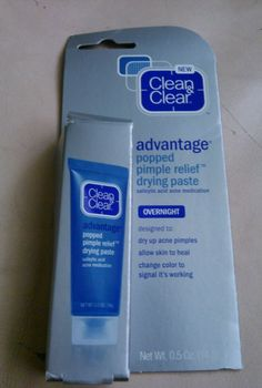 Clean & Clear Advantage Popped Pimple Relief Overnight Drying Paste .5oz #CleanClear