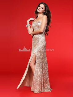 Sequins Graduation Floor-Length Sequins Fabric Dress  182.99 Inexpensive Prom  Dresses 8960754ef09d