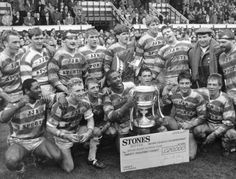 Stones Bitter Rugby League Championship.   Wigan RL Australian Football, Manchester England, Rugby League, British Isles, Central Park, Cherry, Soccer, Bitter, History