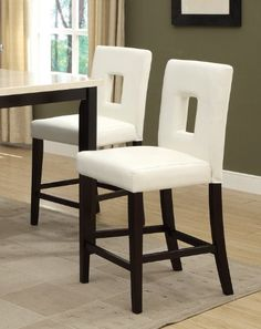 White Leather Counter Height Stools Set of 2 Parson High Chairs Bar Stools Poundex http://www.amazon.com/dp/B00FRUFZTE/ref=cm_sw_r_pi_dp_5seQtb163W0Y2VM7
