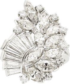 Diamond, Platinum Ring, circa 1950