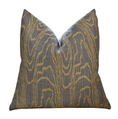 "20"" Kelly Wearstler Agate Pillow Cover in Taupe/Gold"