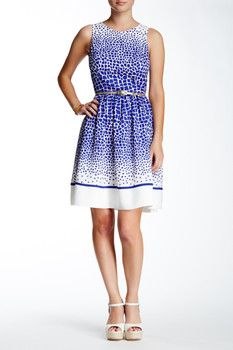 Eliza J Sleeveless Geo Print Dress