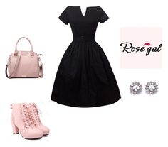 """Dress-Rosegal 28"" by seldy-enes ❤ liked on Polyvore featuring vintage"