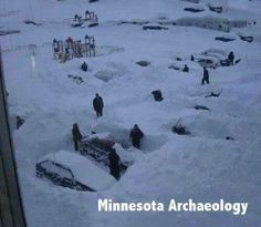 Halloween Storm 1991 - Minnesota. My boss came two days later to pick me up on a snowmobile for work! Right in Minneapolis!