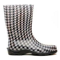 Sloggers Womens Houndstooth Rain Boot.