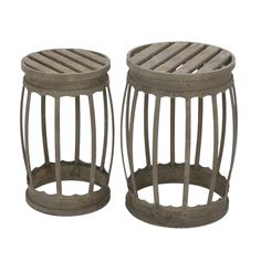 18-inch Metal Stool (Set of 2) - Overstock Shopping - Great Deals on Planters, Hangers & Stands