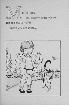 ~ ABC, Metropolitan Life Insurance Co., 1920 (children's health education pamphlet)via Hagley Digital Archives
