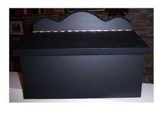 Mailbox black varnish pine by AtelierPierreArtisan on Etsy