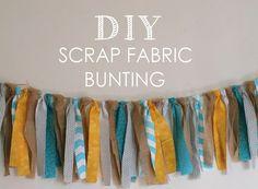 DIY Scrap Fabric Bunting