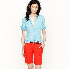 my red orange chino shorts