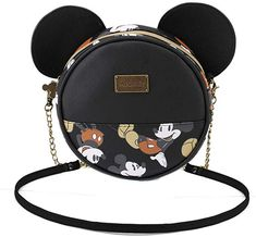 Disney Discovery- Classic Mickey Mouse-Shaped Shoulder Bag Just when you thought you had enough - or too much if such a thing exists! - handbags and purses, you stumble upon another beauty to add to the masses. Disney Handbags, Disney Purse, Purses And Handbags, Cute Disney Outfits, Disney Bound Outfits, Disney Clothes, Backpack Purse, Crossbody Bag, Cute Mini Backpacks