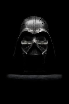 Wood sculpture of Darth Vader - iPhone Wallpaper.