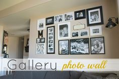 Blissfully Ever After: Gallery Photo Wall need to remember to add not just pix
