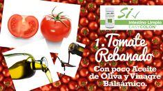 22 Snacks Saludables, Tomate Rebanado, con poco Aceite de Oliva y Vinagre Balsámico.
