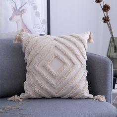 Scandi Tufted Cushion Covers - Square - A