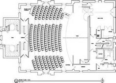 Image result for theater floor plan Auditorium Design, Rpg Character Sheet, Theater Plan, Balcony Flooring, Architectural Floor Plans, Little Theatre, Plan Sketch, Theatre Design, Church Building