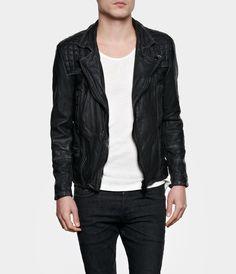 Cargo Biker Leather Jacket, Men, New, AllSaints Spitalfields