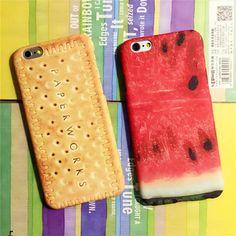 ビスケットサーモン野菜ラーメンスイカiPhone7/7plusケース 個性かっこいいアイフォン6s/6s プラス 面白い食物スマホケース