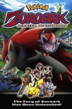 Pokemon: Zoroark: Master of Illusions (DVD)The Fury of Zoroark Has Been Unleashed! The Pokémon Baccer World Cup. It is the most anticipated event of the year, a New Pokemon, Pokemon Fan, Iron Man Hulk, Nouveau Pokemon, Pokemon Zoroark, Four Movie, Pokemon Movies, Story Arc, Streaming Vf