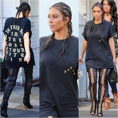 kim kardashian adere a tendência de argolas no cabelo
