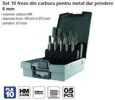 • material: carbura HM• diametru freze: Ø6 mm si Ø12 mm• prindere: Ø 6 mm Tivoly brand Franta