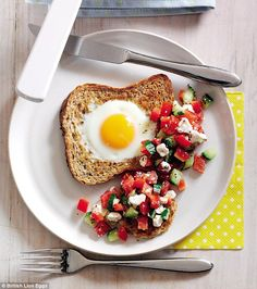 Swap traditional eggs on toast for 279-calorie eggs in a hole at 91p a serving –…