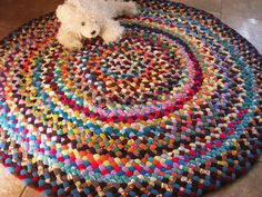 New Ready To Ship Handmade Colorful Round Braided Rug Carpet For Nursery Bathroom