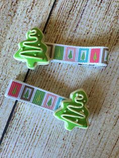 Gypsy Spoonful Marketplace: Gypsy Spoonful - Christmas Tree Cookie Hair Clip S...