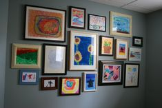 Make your child feel like a rock star... #CustomFrame their #art & create a focal wall in your home.