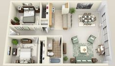 I like the layout...I want a new apartment :(...also this makes me want to play The Sims