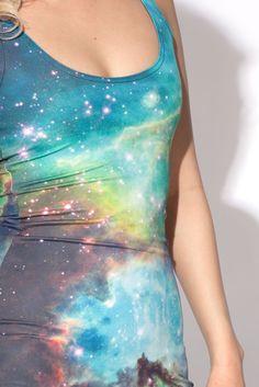Green Galaxy Dress