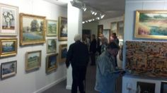 The halls were full at David Dike's Texas Art Auction