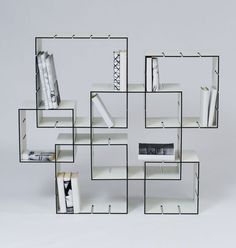 KONNEX Shelf - this is a brilliant idea! The shelves can be adjusted.