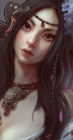 f Sorcerer portrait Amazing Digital Illustrations by Hsu-Yu-Hao Digital Portrait, Portrait Art, Digital Art, Illustration Girl, Digital Illustration, Different Kinds Of Art, Bobe, Portraits, Fantasy Women