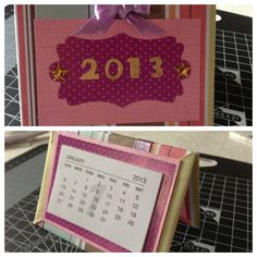 Folding mini desk calendar