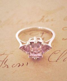 Silver Amethyst Bea Ring