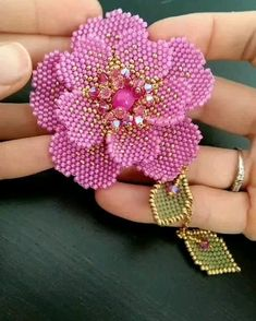 Bead Embroidery Tutorial, Etsy Embroidery, Bead Embroidery Patterns, Embroidery Jewelry, Beaded Embroidery, Beading Patterns, Macrame Patterns, Beaded Flowers Patterns, Beaded Jewelry Patterns
