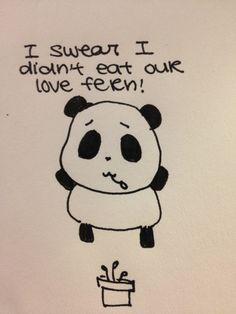 Sad Panda didn't eat the love fern!