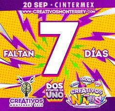 Cada día falta menos para #Creativos recuerden este 20-Sep en CINTERMEX