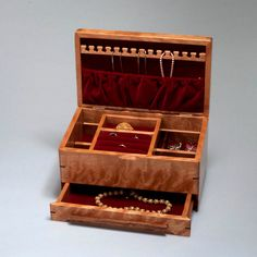 Large Jewelry Box Organizer with Necklace Hanger Ring Holder and