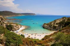 These are the beaches your dreams are filled with. This is Sardinia Travel List, Italy Travel, Oh The Places You'll Go, Places Ive Been, Varanasi, Solar System, Dream Vacations, Around The Worlds, Island