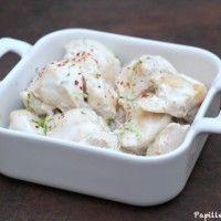 Blancs de poulet au yaourt, au citron vert et au piment d'Espelette