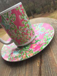 Poppies Coffee Mug, Monogrammed