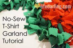 No-Sew T-Shirt Garland Tutorial