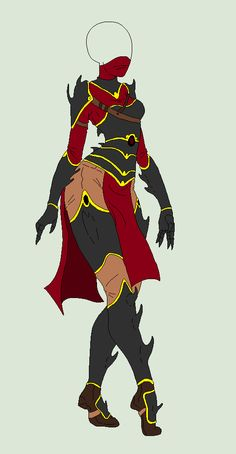 Outfit Adopt - Dark Warrior - SOLD by ShadowInkAdopts.deviantart.com on @deviantART