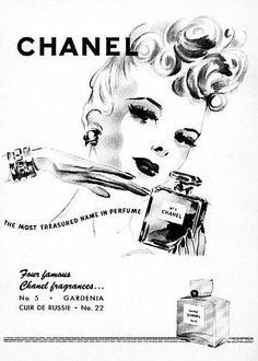 Chanel - 1942 - Vintage Ad - four classics