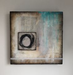 """Within"" encaustic abstract 12x12"