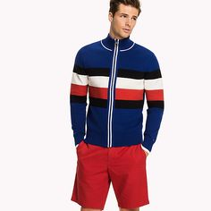 Image for Stripe Zip Jumper from TommyUK